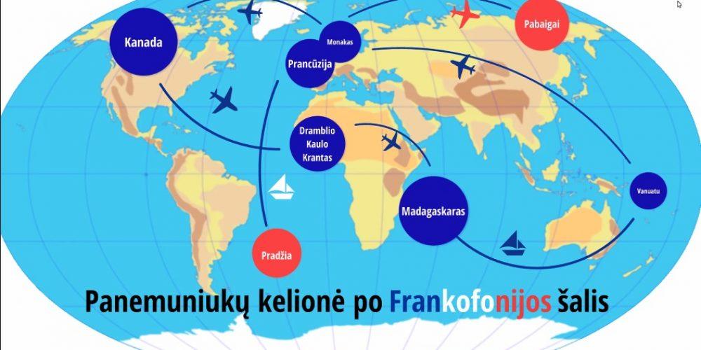 Panemuniukų kelionė po Frankofonijos šalis